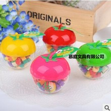 wholesale very cute apple box gift eraser good for school prize