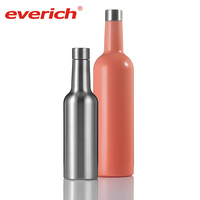 China supplier round 750ml metal wine bottle with high quality