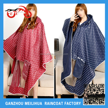 Wholesale Womens Hooded Waterproof Rain Poncho for Electric Bicycle ScooterMotorcycle