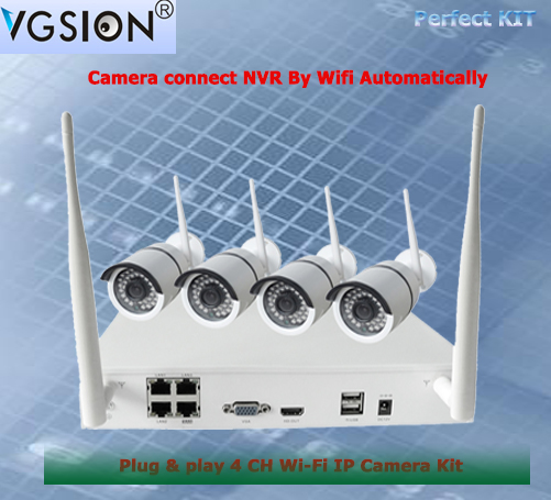 Factory Direct Motion Detect15-30M Night Vision H.264 IR IP Cameras Cctv Kit Wifi 4ch Dvr Kit 4ch Wifi Nvr Kit
