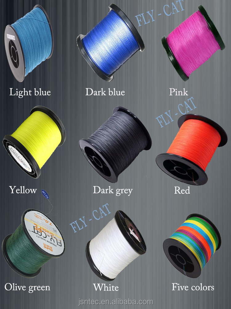 0.14mm 8 weaves 300M multi-color Fishing line 100% PE material