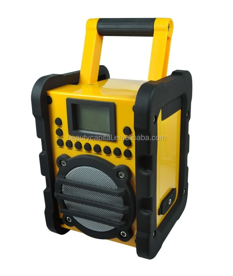 Newest China Wholesale Waterproof DAB Jobsite Radio with FM RDS, Bluetooth and Alarm Clock Function