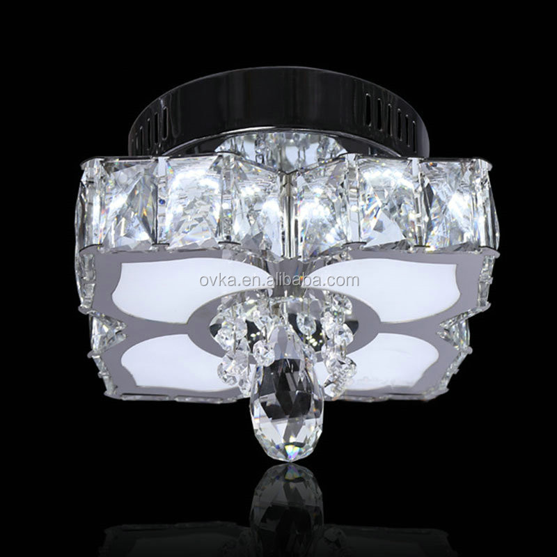 modern hotel crystal lobby led ceiling lamp flower decorative lights for home