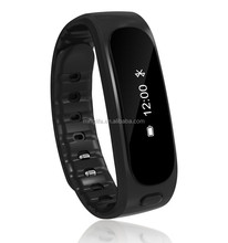 Top selling recharger waterproof digital wrist pedomete with anti lost sleep smart bracelet