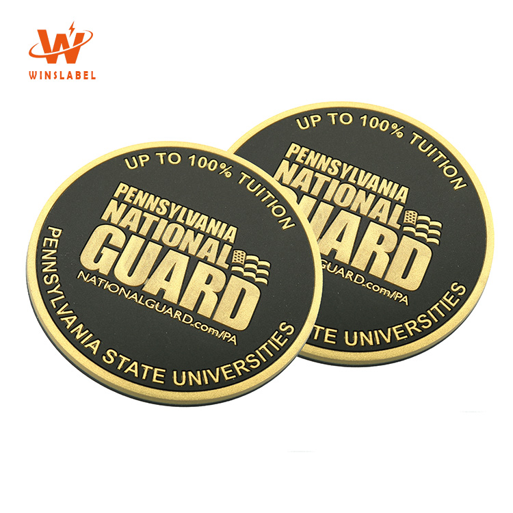 High Quality Custom Brand Private Name 2D Logo Promotion Soft PVC Rubber Cup Coaster
