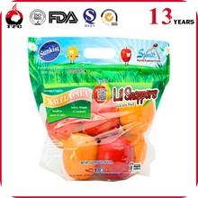 Plastic Packing Custom Printed Fresh Fruits and Vegetables Bags