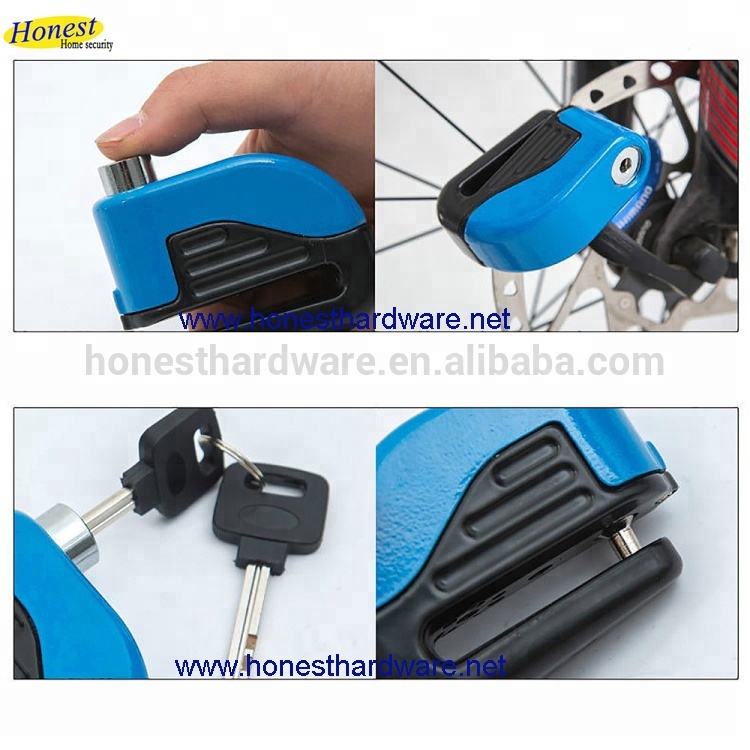 Theft Security Lock Electric Bike Scooter Wheel Disc Brake Alarm Lock