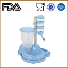 Pet Suppliers and Accessories Adjustable Plastic Auto Pet Double Feeder