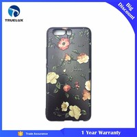 3D Sublimation Flower Pattern Black TPU Case For Huawei P10 Cell Phone