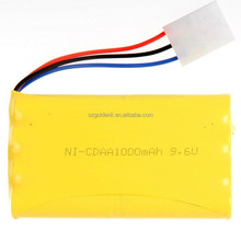 NI-CD AA 1000mah 9.6V Rechargeable Battery Pack