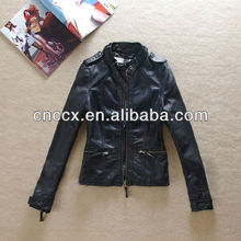14PJ1050 New fashion 2013 pu+leather+jackets+for+women