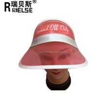 Wholesale Customized Cheap Fashion Pvc Plastic Sun Visor Cap