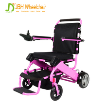 PU solid tire lithium battery joystick controller foldable electric wheelchair for disabled