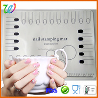 Perfect performance custom nail art stamping plates with mat