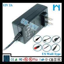 ac/dc adapter 12v 2a 12V US EU AU UK plug DC connector 5.5*2.1mm