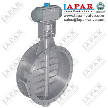 Damper Butterfly Valve for Dusty Gas Hot Gas