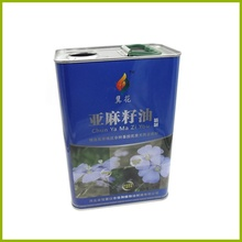 500mL metal tin Linseed oil can tinplate cans packing with plastic lids