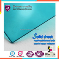 Resistance to impact Transparent gallery polycarbonate solid sheet used for sun room