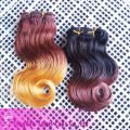 two tone color hair,virgin brazilian ombre human hair(YM-J-154)