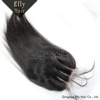 Best selling products in America virgin brazilian hair lace closure with baby hair