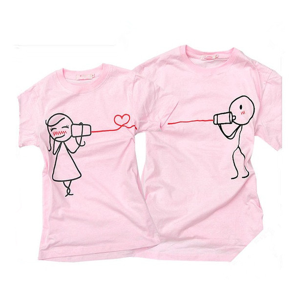 Intriguing Couple Printing T Shirt For Couples View