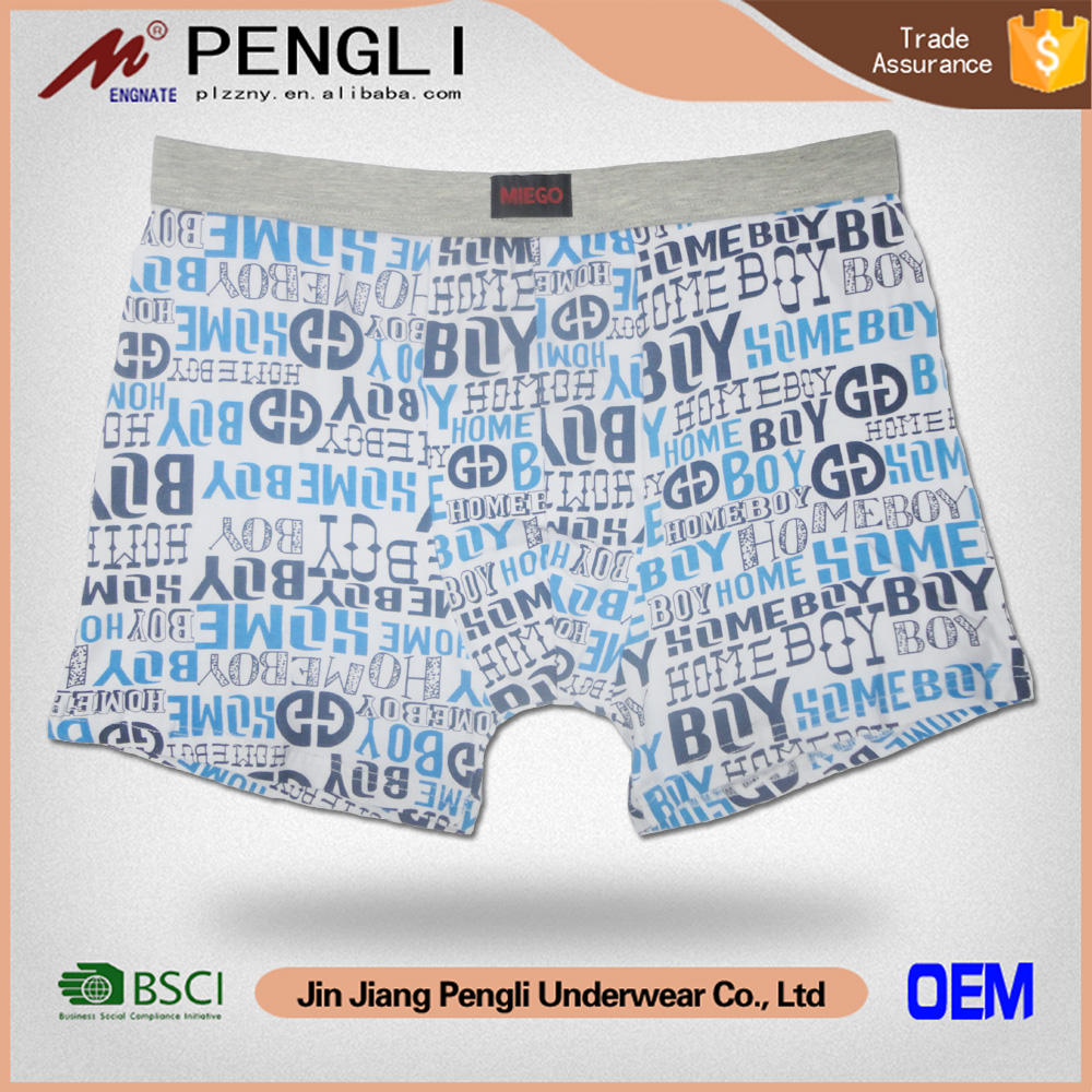 New Fashion all over printed men's crazy underwear