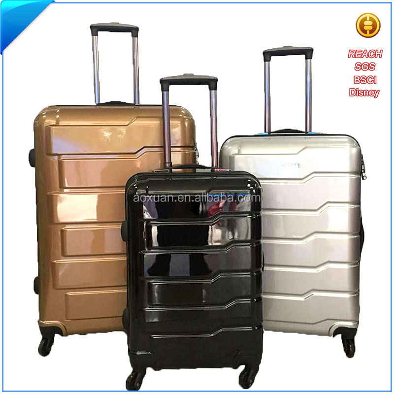 travelling product manufacturers polycarbonate luggage trolley China set travel bag