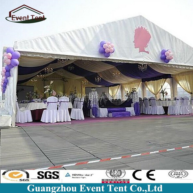 20meter wide indian wedding hall tent with lining decoration