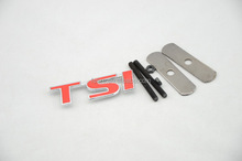 Custom 3D Car Front Grille Metal Auto Decorative Badge Emblem RALLIART TRD M RLINE RS ST TSI FR