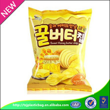 accept custom Order gravure printing tear notch potato chips plastic packaging bag snack plastic packaging bag