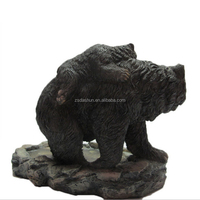 Resin crafts decorative home ornament welcome black bear figurine, Mother baby bear sculpture