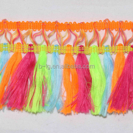wholesale factory price colorful tassel fringe trim fringe for garment accessory