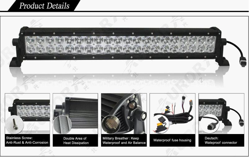 AURORA IP69K highest waterproof rating 4inch double row 40w led light bar offroad