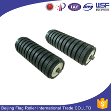 China rubber coating impact conveyor roller
