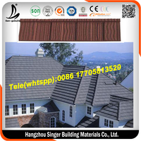 Shake stone coated roof tile/wood shape roof tile with high quality