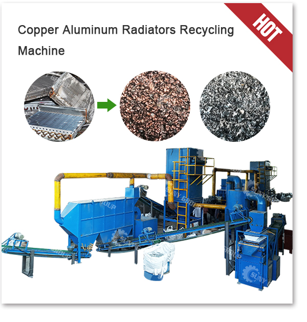 Scrap Copper Aluminum Radiator Recycling Machine