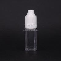 10 ml small empty e juice bottle clear square plastic dropper bottle for vape oil