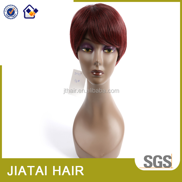 Factory American fashion high temperature machine made synthetic wig black women