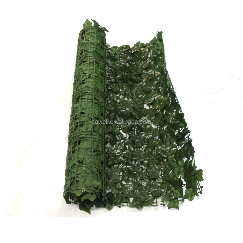 factory direct garden decoration plastic artificial leaf fence