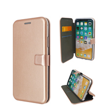 Hot Sale Magnetic Buckle Card Slot PU Leather Wallet Phone Case For iPhone X