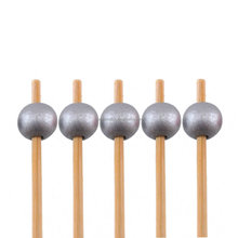 decorative cocktail ball end bamboo food picks