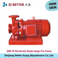 XBD-W horizontal single-stage fire pump fire fighting sets SGS UL listed