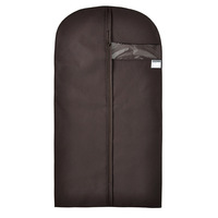 non-woven and PVC high quality garment bag best foldable clothes suit cover for travel
