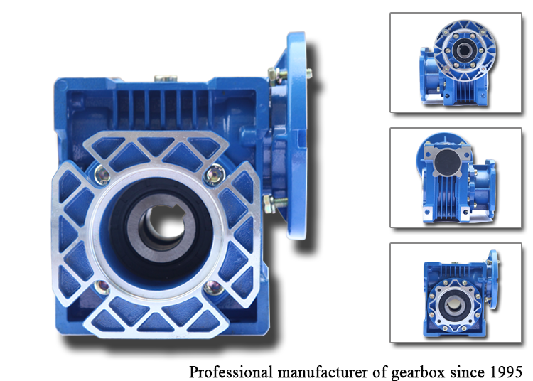 High efficiency worm geared reducer motor