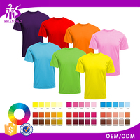 High Quality Summer Multi Color 100% Polyester Plain Tshirt