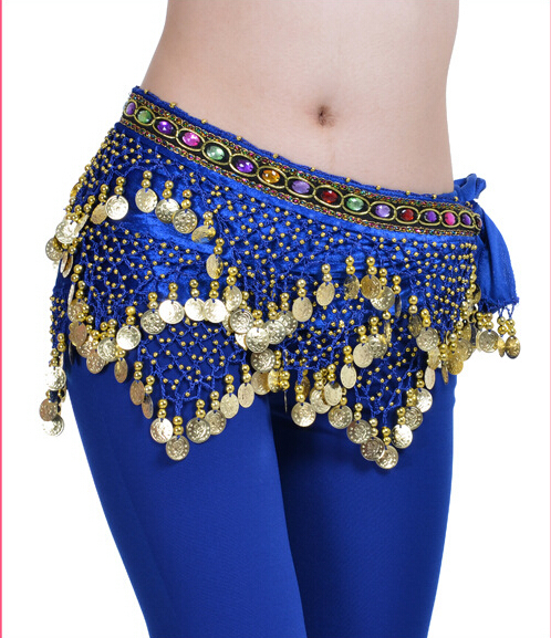 More Coins Colorful Belly Dance Hip Belt
