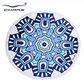 Luxury stock wholesale large blanket circle custom turkish round cotton beach towel with tassel