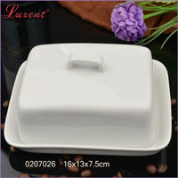 porcelain plain white canister for hotel, home food holder