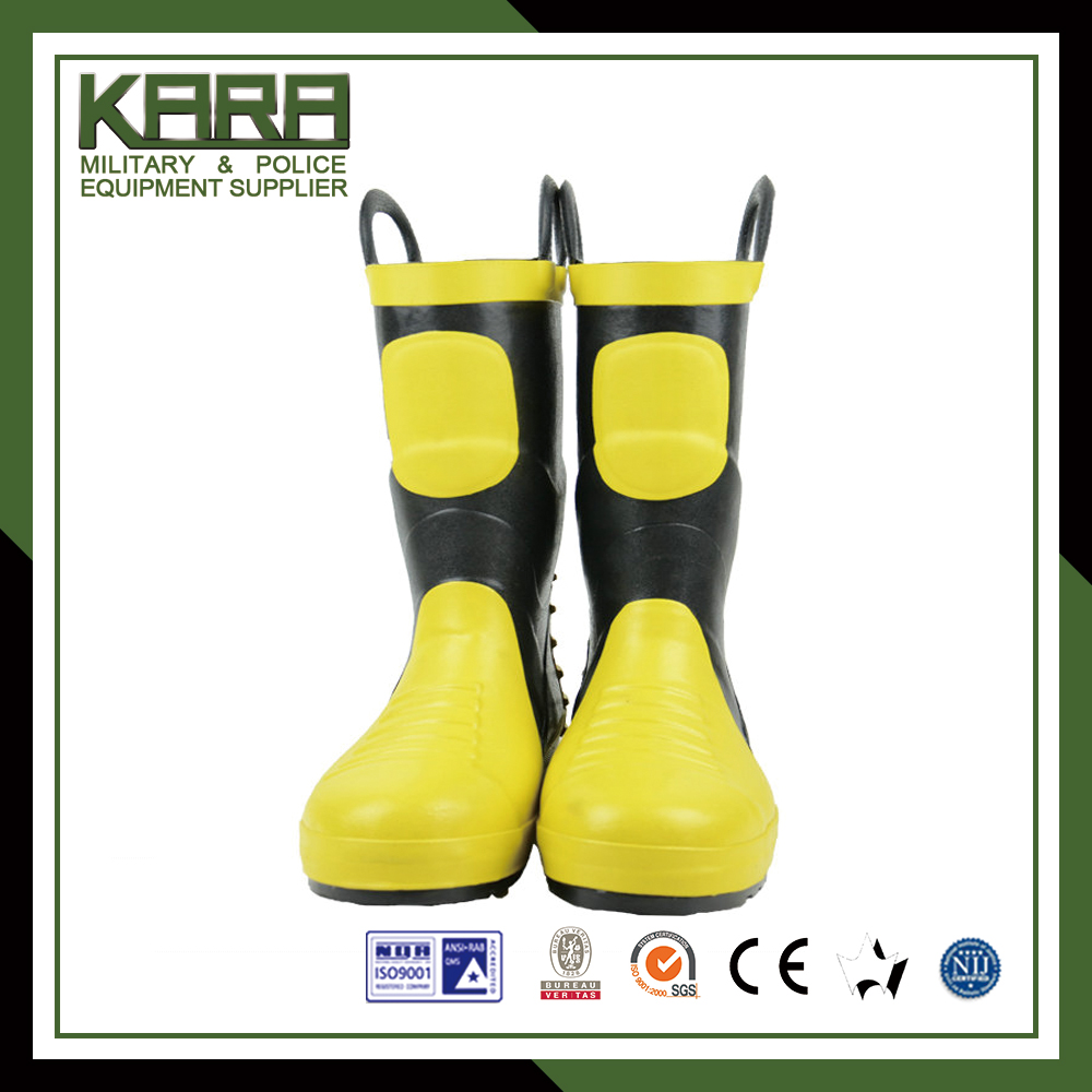 China factory wholesale fire resistant rubber safety boots