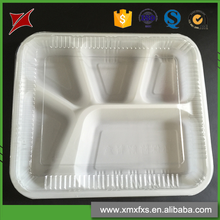 New Promotion Disposable Plastic Fast Food Packaging Tray With Clear Cover